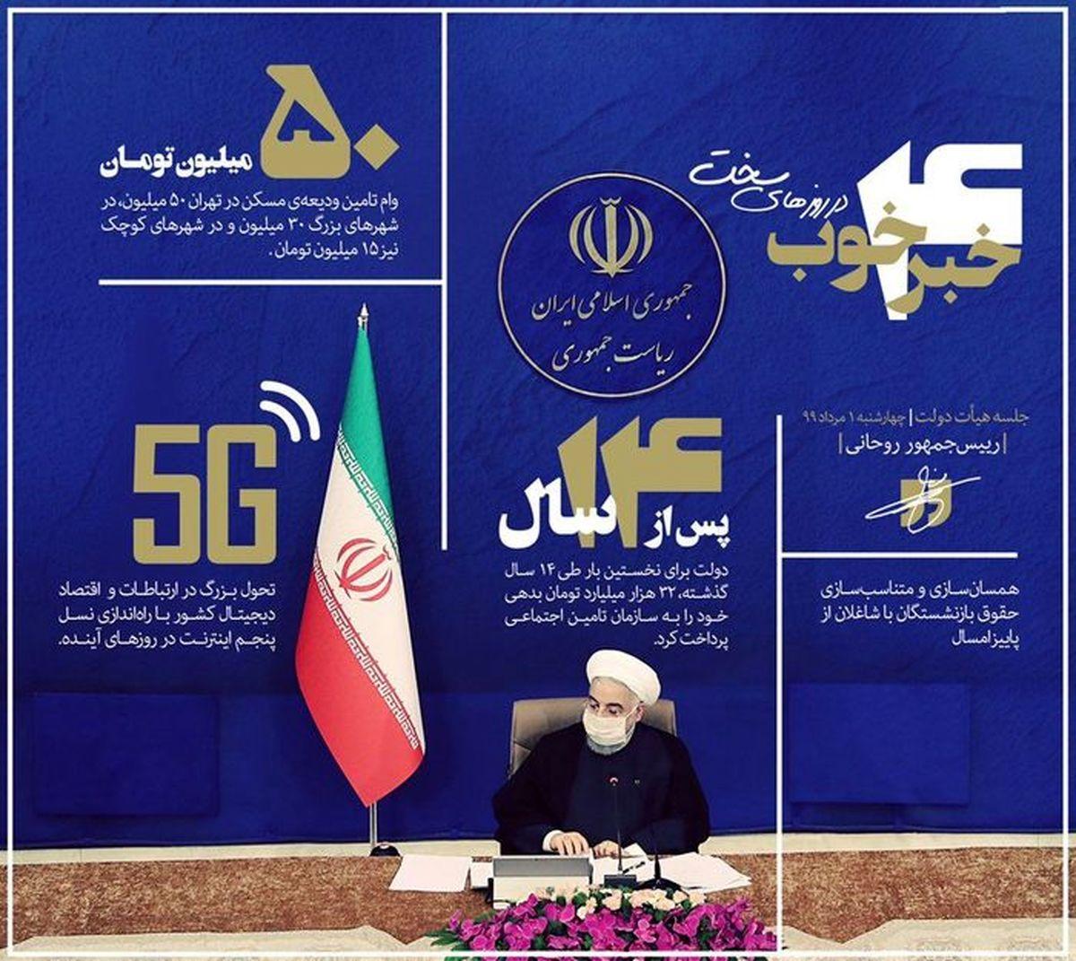 چهار خبرخوب روحانی در روز های سخت