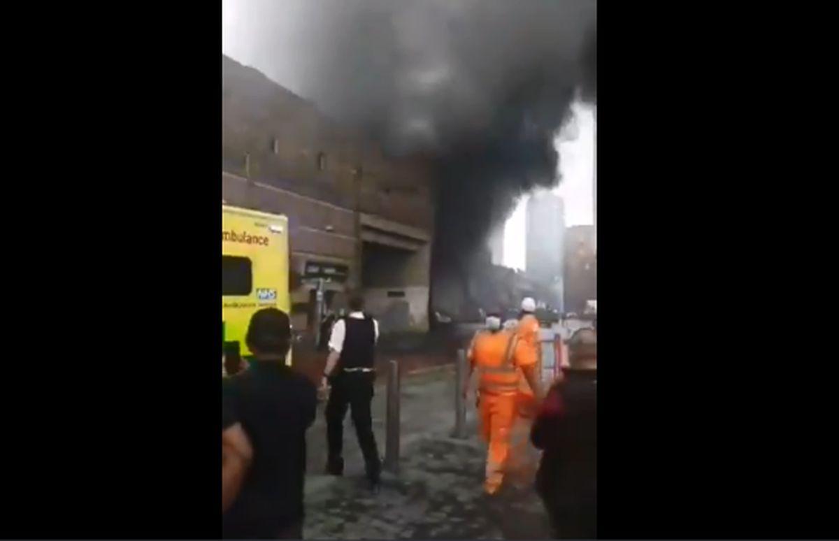 انفجار بزرگ در ایستگاه قطار + فیلم
