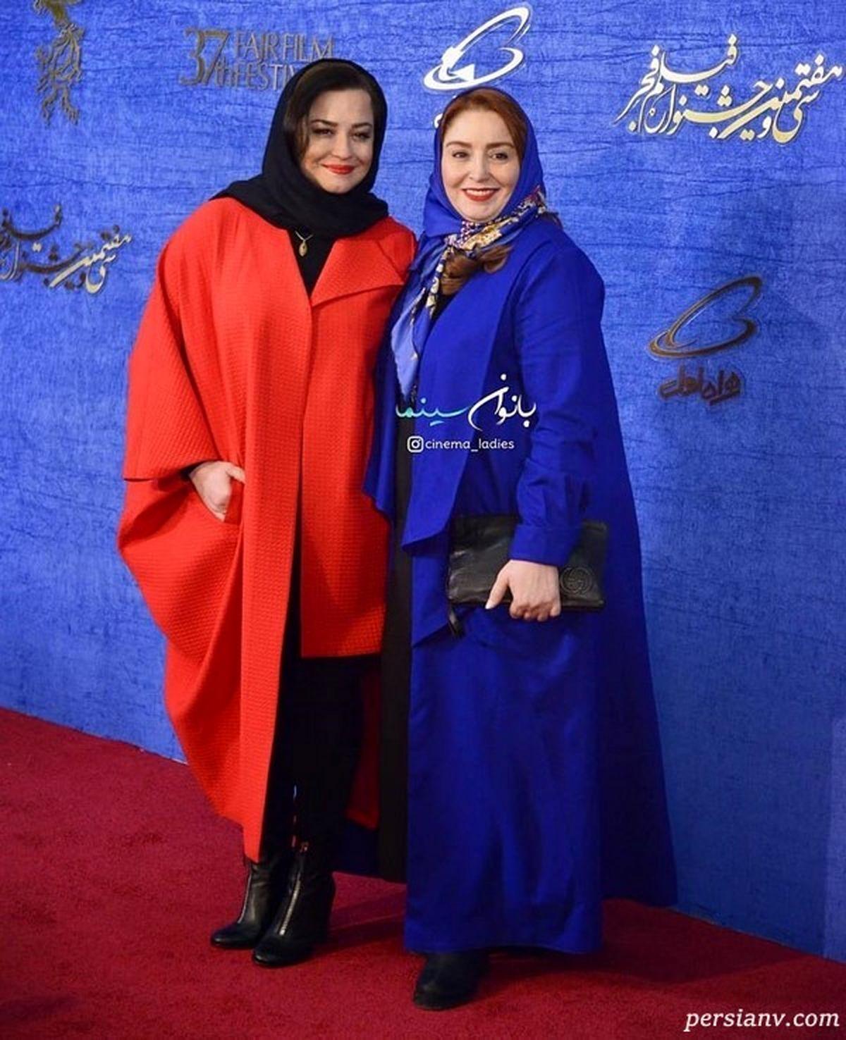 تیپ خفن مهراوه شریفی نیا و زاله صامتی در جشنواره + فیلم