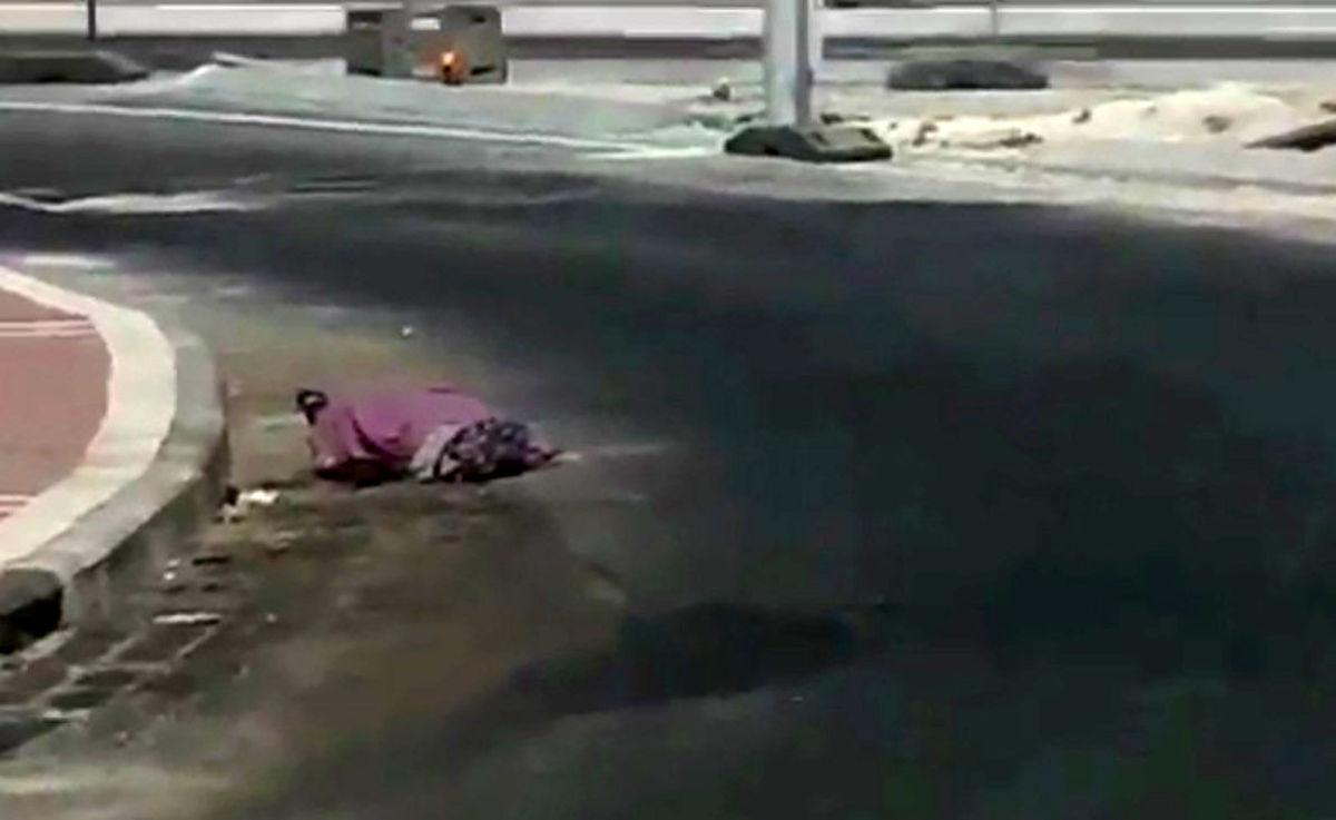 صحنه سازی عجیب رژیم صهیونیستی با جنازه زن بی گناه + ویدئو