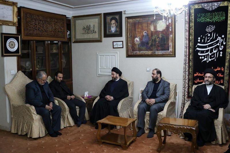 Image result for حضور عمار حکیم در منزل سپهبد شهید سلیمانی