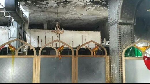 مرقد یک امامزاده را در شیراز به آتش کشیدند