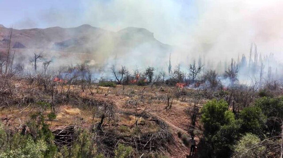 ارتفاعات دارآباد در آتش سوخت