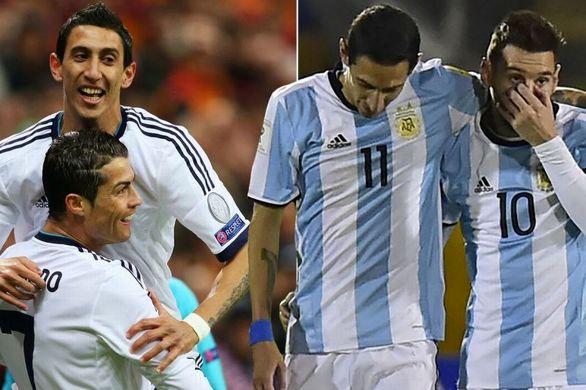 خوشبختی دی ماریا   بازی در کنار سوپراستارهای جهان فوتبال
