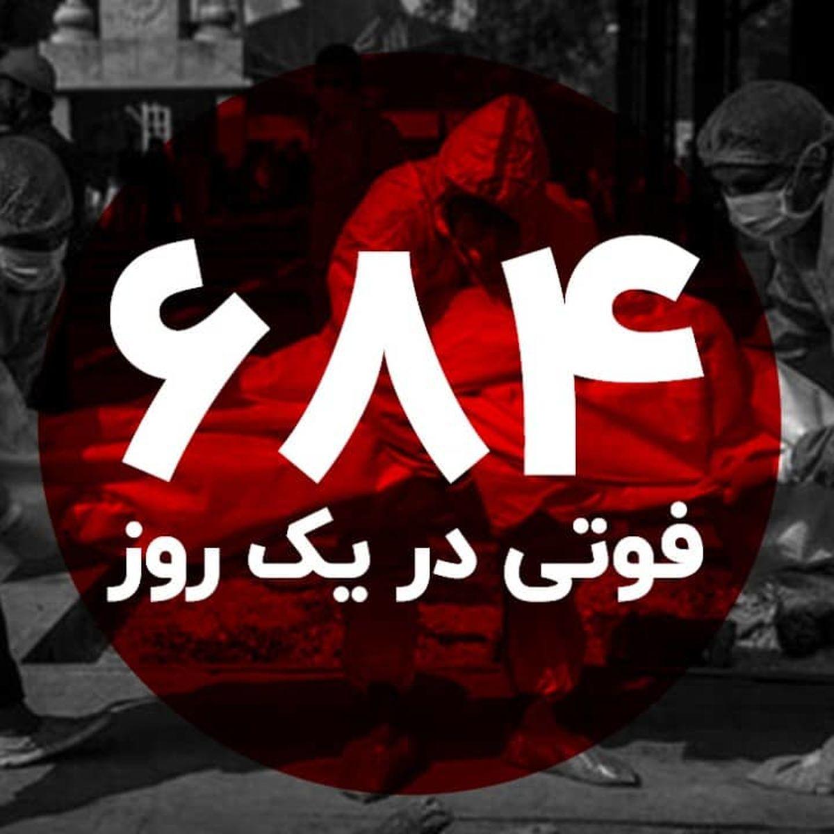 رکورد فوت کرونا در ایران شکسته شد