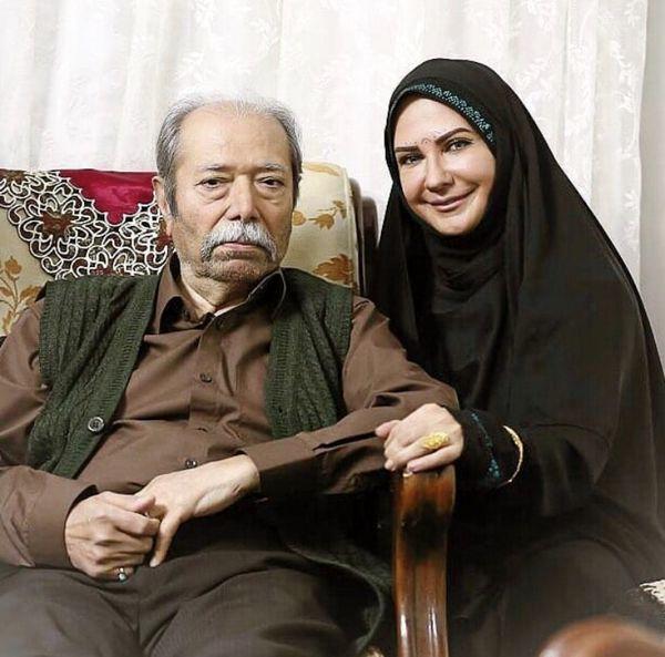 لعیا زنگنه در خانه پیشکسوت سینمای ایران + عکس