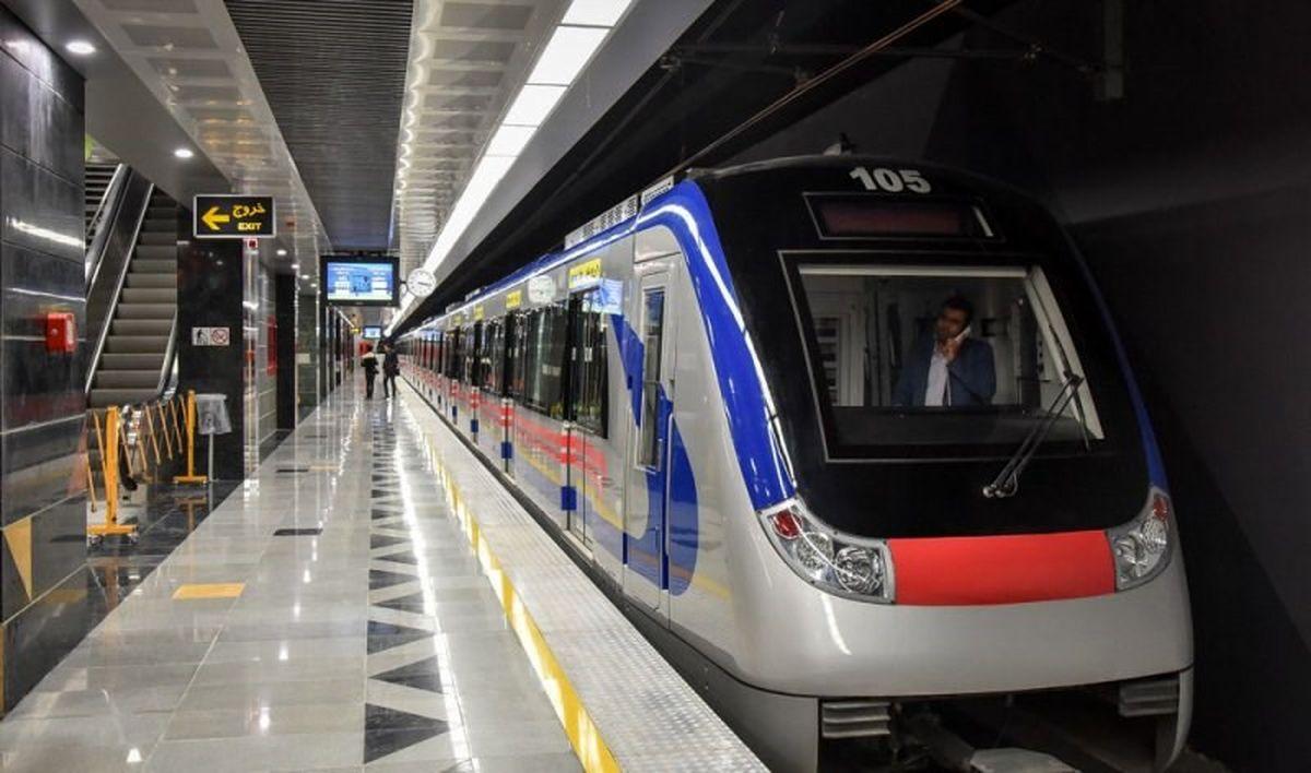 کاهش سرفاصله حرکت مترو در تهران
