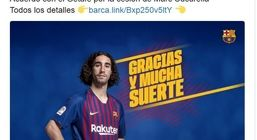 مدافع بارسلونا به ختافه رفت