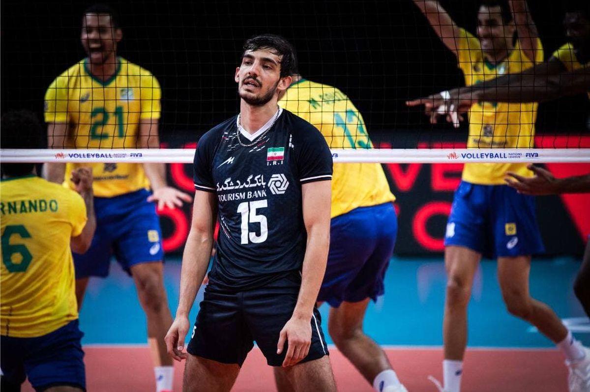 شکست تلخ تیم ملی والیبال مقابل برزیل
