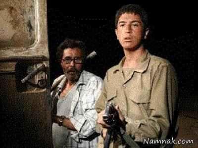مهرداد صدیقیان و مرحوم شکیبایی در فیلم اتوبوس شب