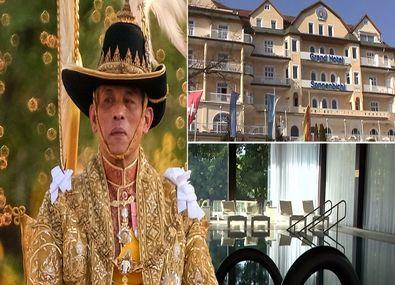 پادشاه تایلند به همراه ۲۰ زن در یک هتل لوکس قرنطینه شد + عکس