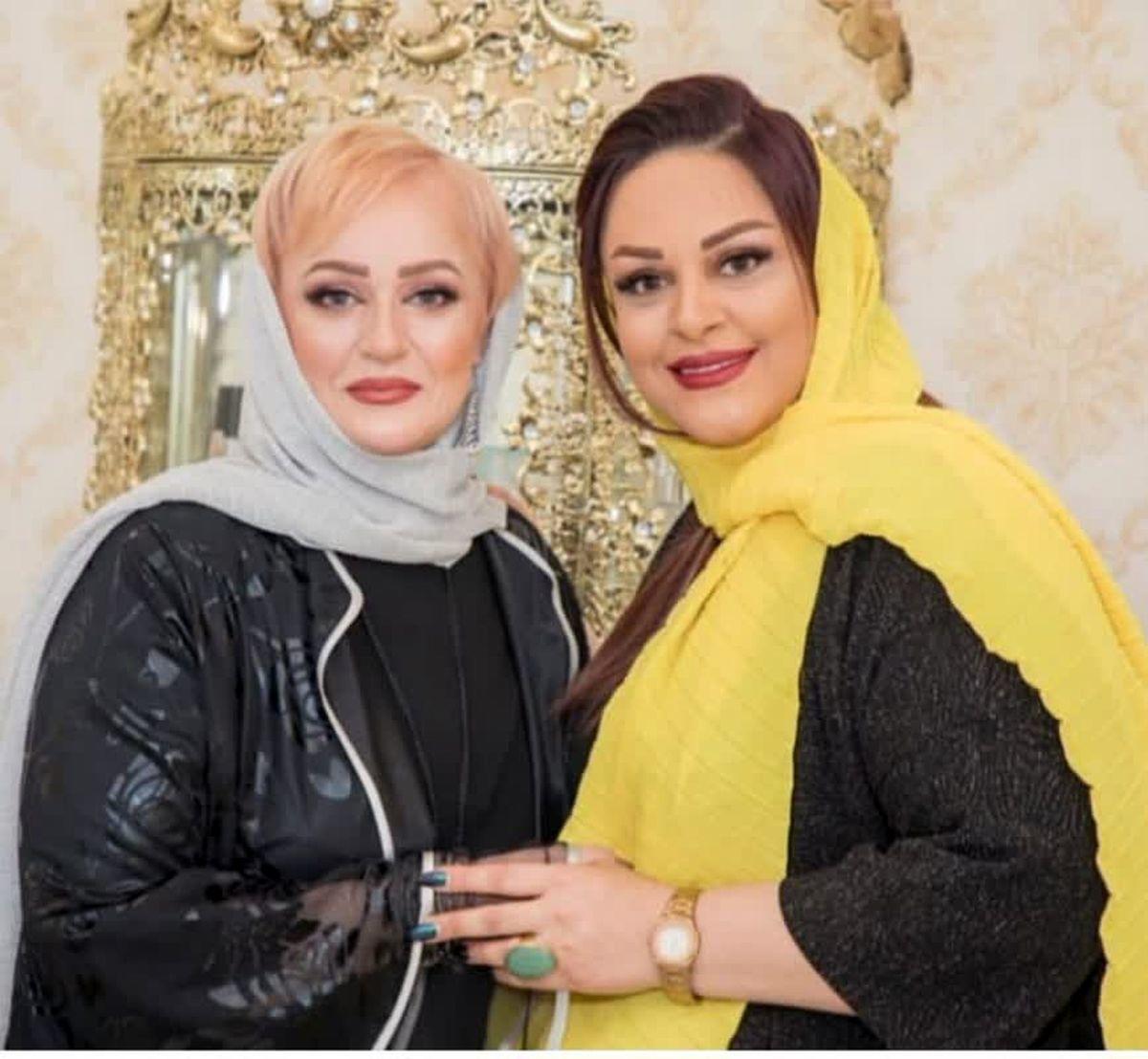نعیمه نظام دوست و خواهرش در سالن زیبایی+عکس