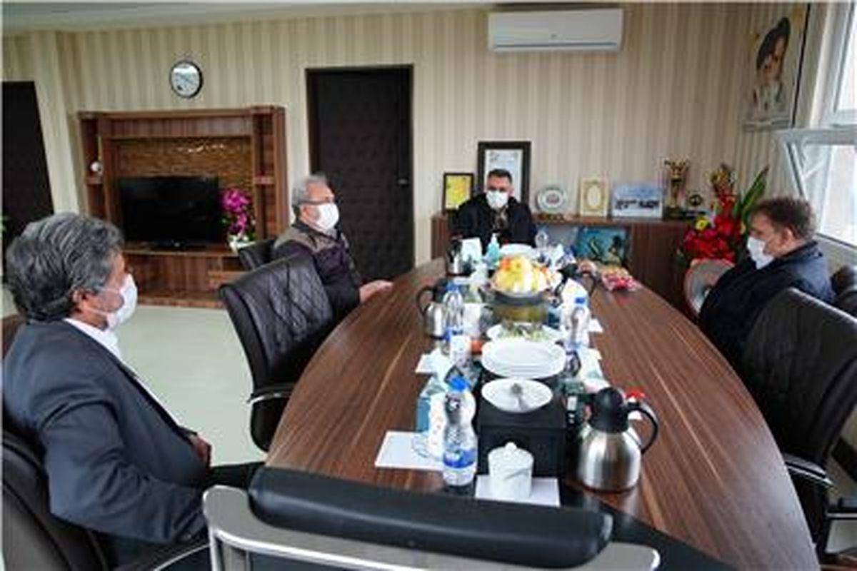 دیدار شهردار و شورای اسلامی شهر سنگان با مدیریت مجتمع سنگان