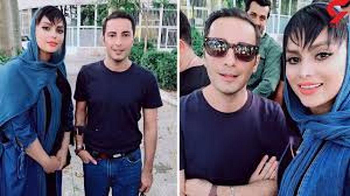 نوید محمدزاده حلقه ازدواج دست فرشته حسینی کرد + عکس
