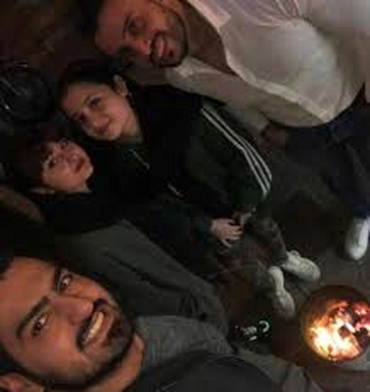 عکس صمیمی جواد عزتی و دختران پایتخت + فیلم