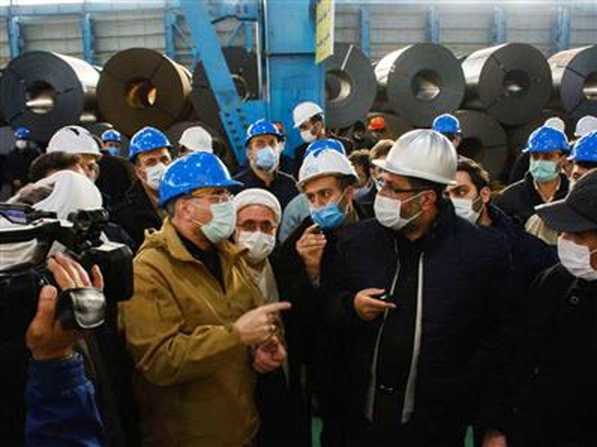بازدید رئیس مجلس شورای اسلامی از شرکتهای گروه فولاد مبارکه