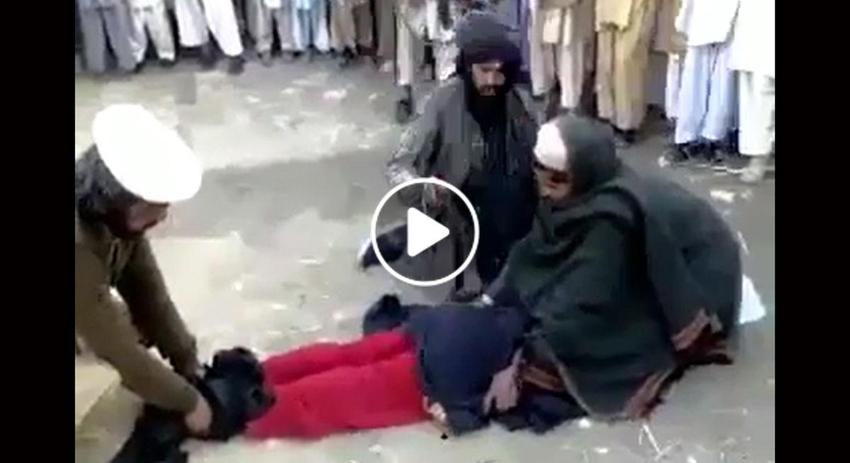 فیلم +18 از لحظه شکنجه زن بی گناه توسط طالبان | فیلم شکنجه طالبان