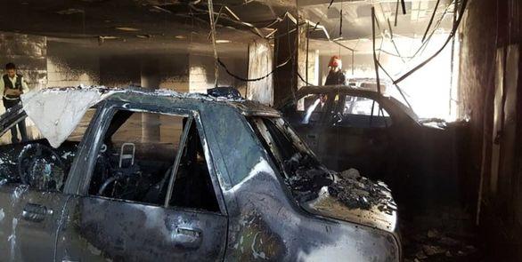 جزئیات آتش سوزی در یک ساختمان 5 طبقه در شیراز + تصاویر