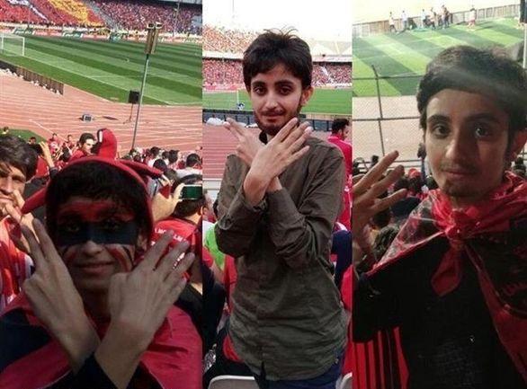حضور دختر دواتیشه پرسپولیسی در ورزشگاه + عکس