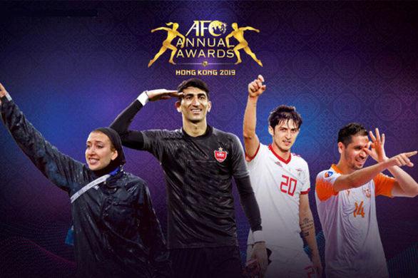 مراسم بهترین های فوتبال آسیا/ناکامی آزمون وجاوید در کسب مدال