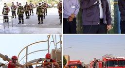 مراسم گرامیداشت روز ایمنی و آتش نشانی در پتروشیمی بندرامام