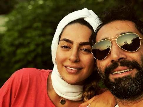چهره بدون آرایش سمانه پاکدل در کنار همسرش هادی کاظمی