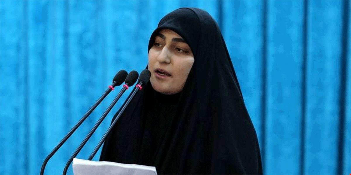 واکنش دختر سردار سلیمانی به شکست ترامپ در انتخابات + عکس