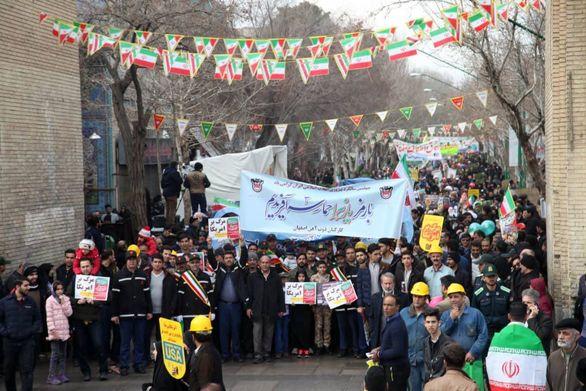 حضور پولادمردان ذوب آهن اصفهان در چهلمین سالگرد پیروزی انقلاب اسلامی