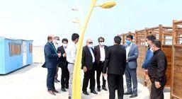 بازدید مدیرعامل سازمان منطقه آزاد قشم از چند طرح عمرانی و گردشگری