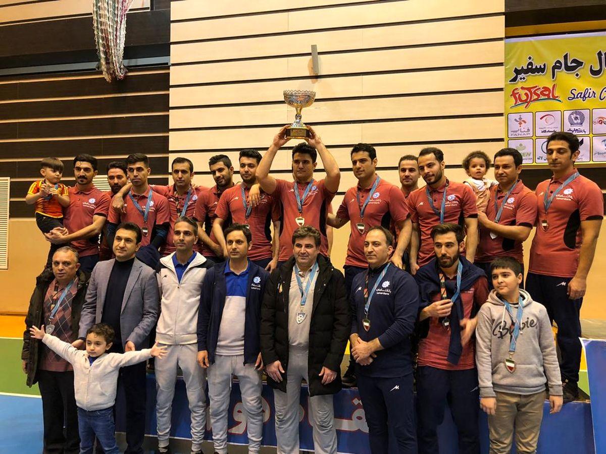 نایبقهرمانی تیم فوتسال بانک سامان در جام سفیر