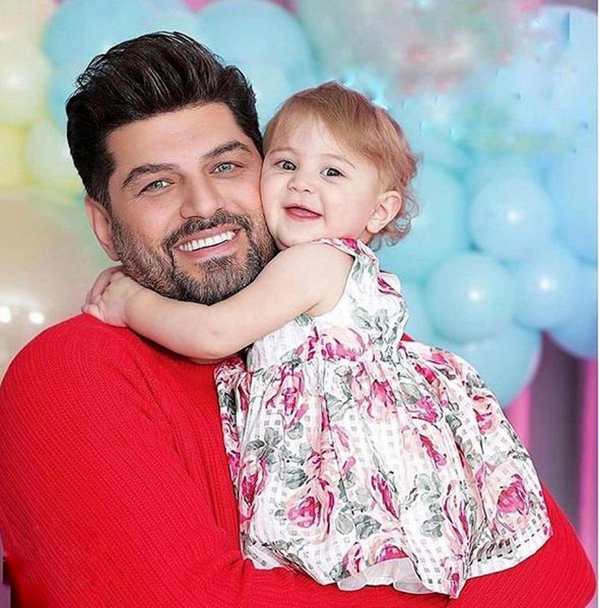 سام درخشانی در کنار همسرش+ عکس فرزندش