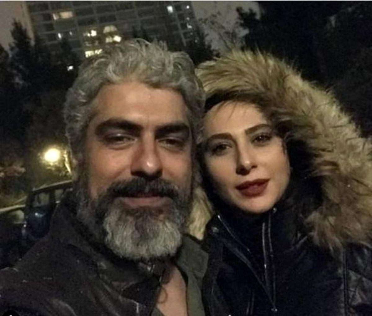 سلفی مهدی پاکدل و همسرش در روز تولدش + عکس