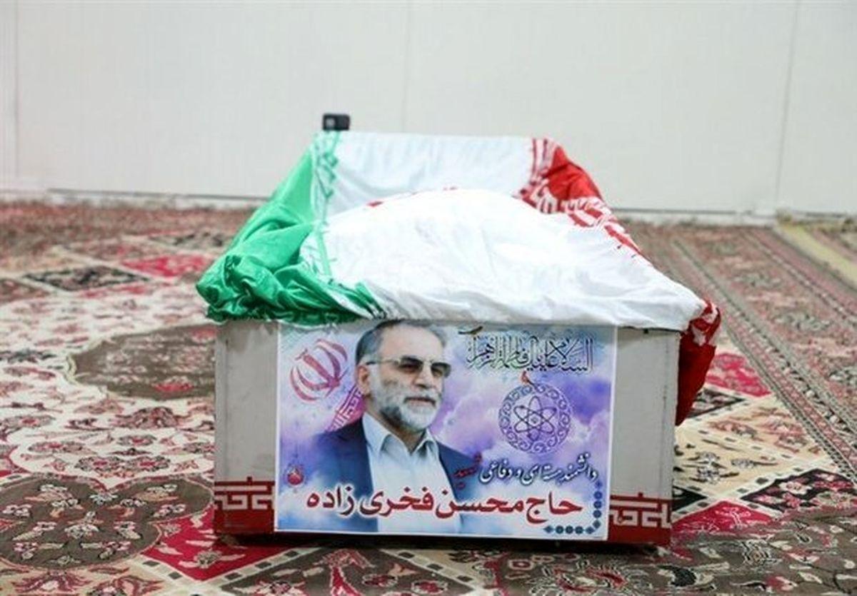 تشییع پیکر شهید فخری زاده در حرم مطهر رضوی + فیلم
