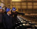 بازدید وزیر نفت از خط تولید ورق API فولاد اکسین خوزستان