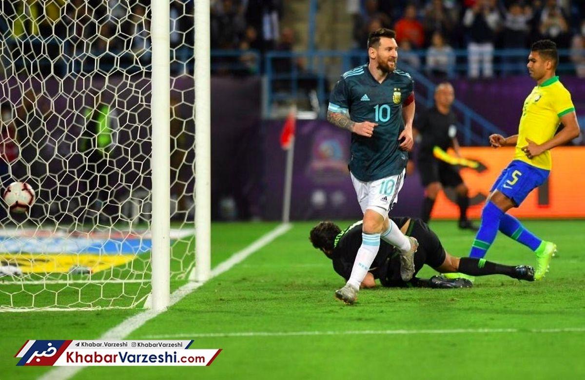 نتیجه بازی برزیل و ارژانتین ۲۴ آبان