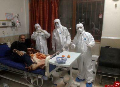 سلفی جالب بیمار مبتلا به کرونا با پرستاران + عکس