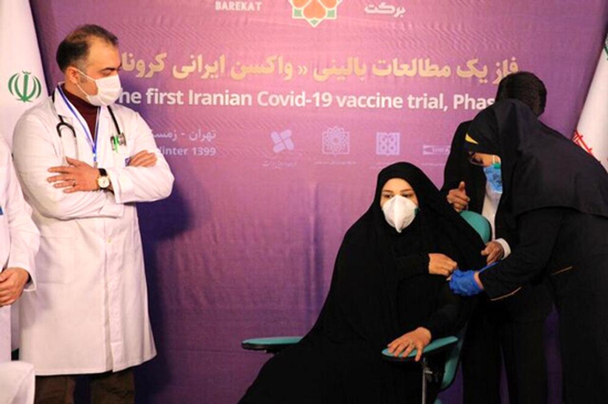 اولین واکسن کرونا روی یک بانو تزریق شد + عکس