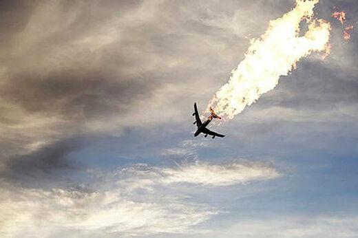 برخورد موشک به هواپیمای اوکراینی صحت ندارد