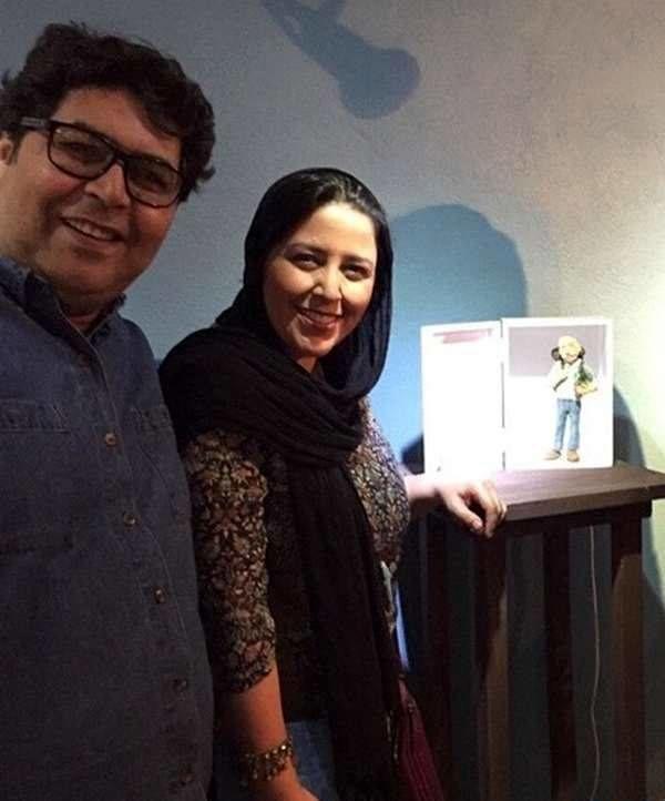 فرهاد اصلانی و همسرش