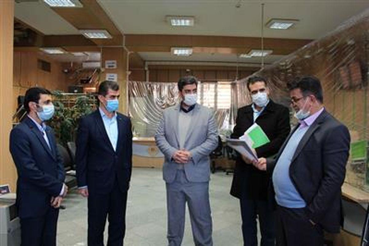بازدید عضو هیأت مدیره بانک مهر ایران از شعب استان سمنان
