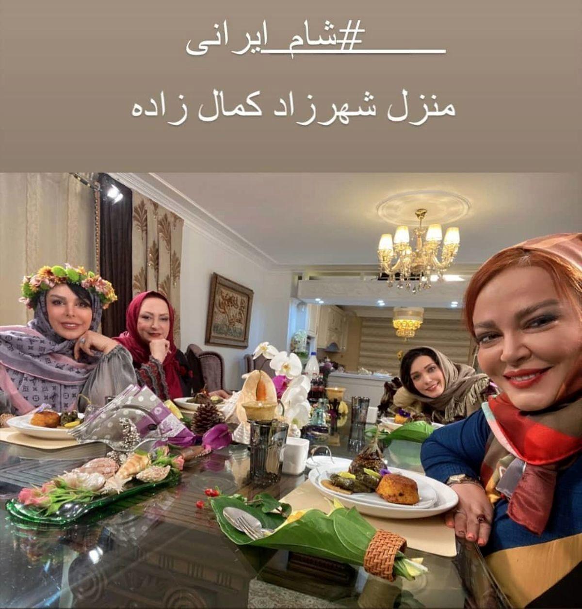 توهین وقیحانه مریم امیرجلالی به فلور نظری در شام ایرانی + فیلم