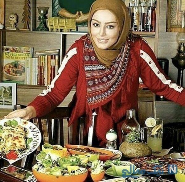 سحر قریشی آشپزی اش را به رخ کشید+عکس و میز لاکچری