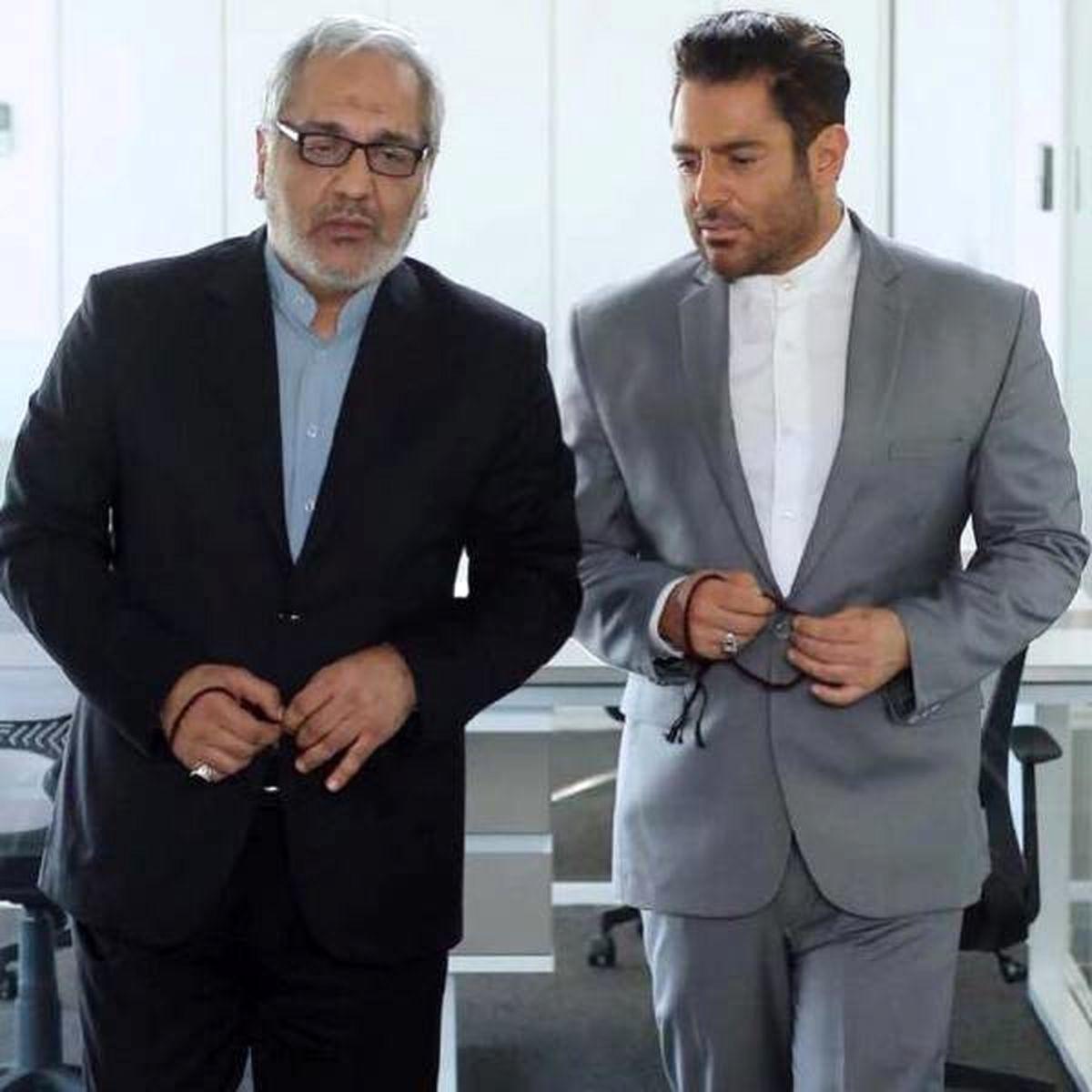 مهران مدیری در کنار پسرش فرهاد