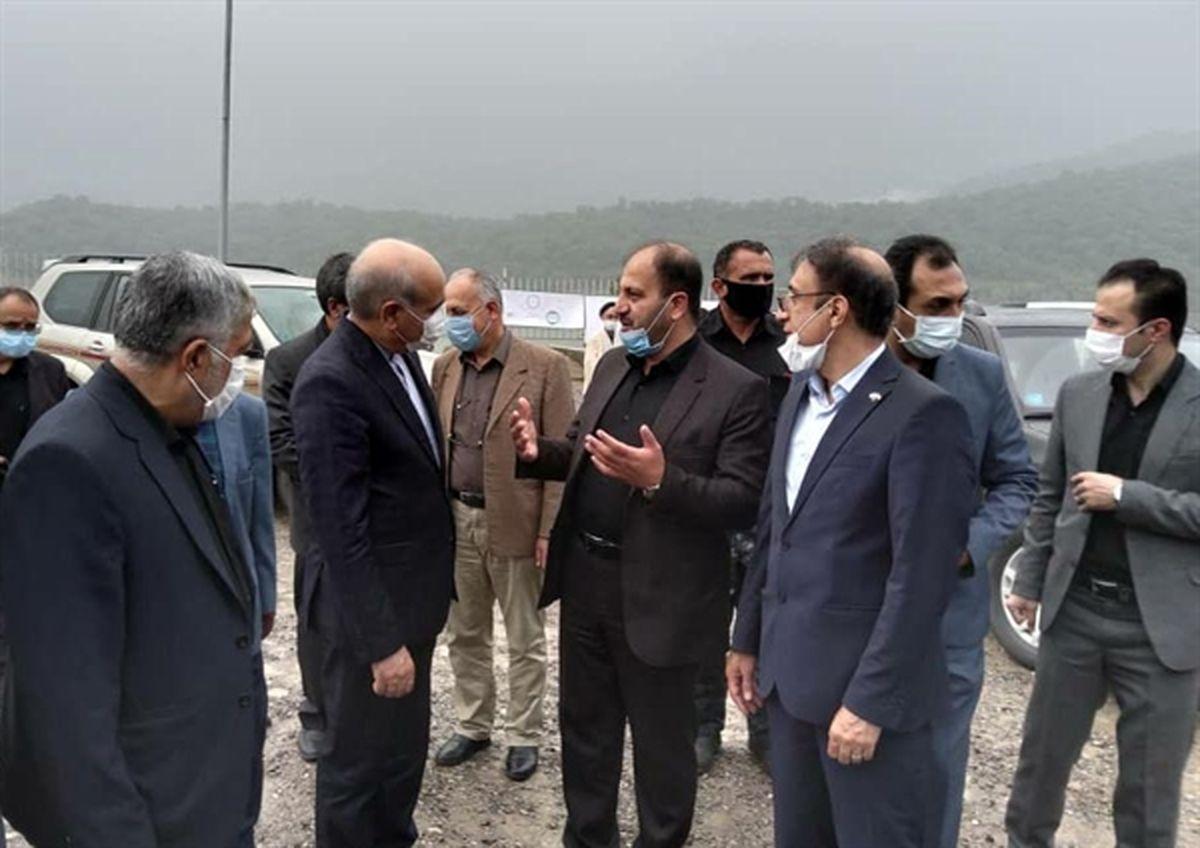 بازدید مدیرعامل بانک کشاورزی از پروژه سدخاکی علی آباد کتول