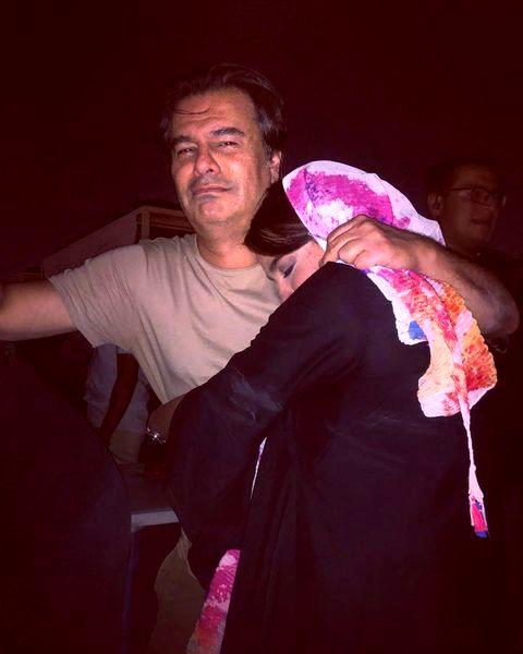 دختر همسر شقایق دهقان در آغوش پیمان قاسم خانی+عکس