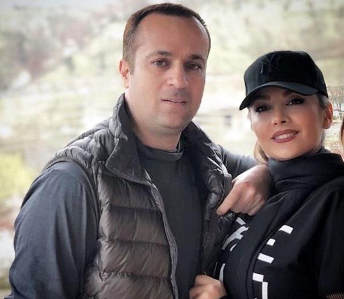 غیرتی شدن ارسطو سریال پایتخت برای همسرش در ملاعام | عکس احمد مهران فر و همسر مدلش