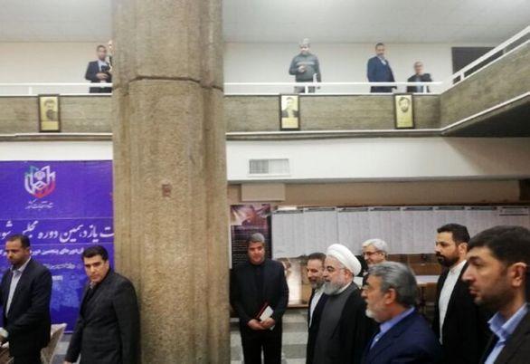 روحانی از ستاد انتخابات کشور بازدید کرد
