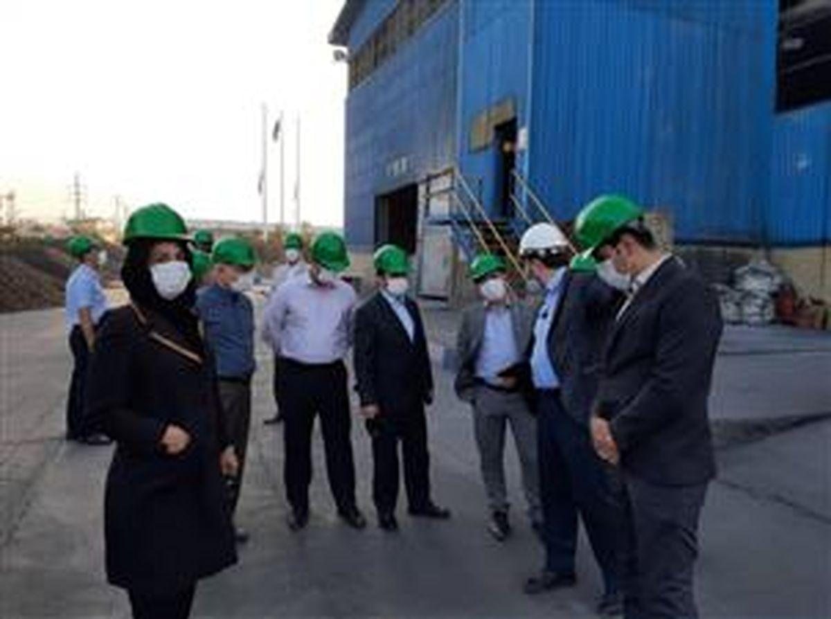 بازدید عضو هیأت عامل بانک صنعت و معدن از چندین واحد صنعتی در استان اصفهان