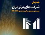 درخشش شرکتهای لیزینگ اقتصادنوین و تامین سرمایه نوین در میان برترین شرکتهای ایران