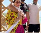 الهام حمیدی در لباس عروس   عکس همسر دوم الهام حمیدی